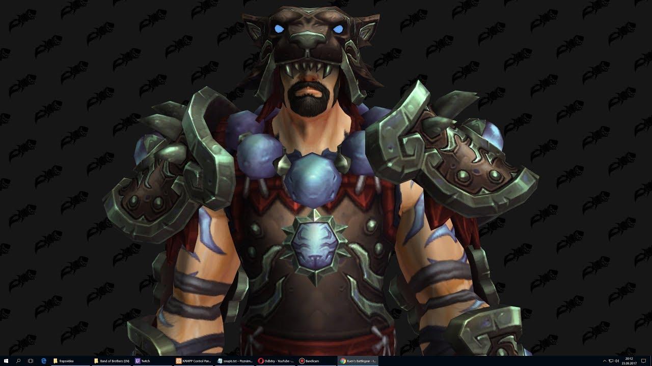 Xuen's Battlegear Monk Tier 20 – (Tomb of Sargeras T20)